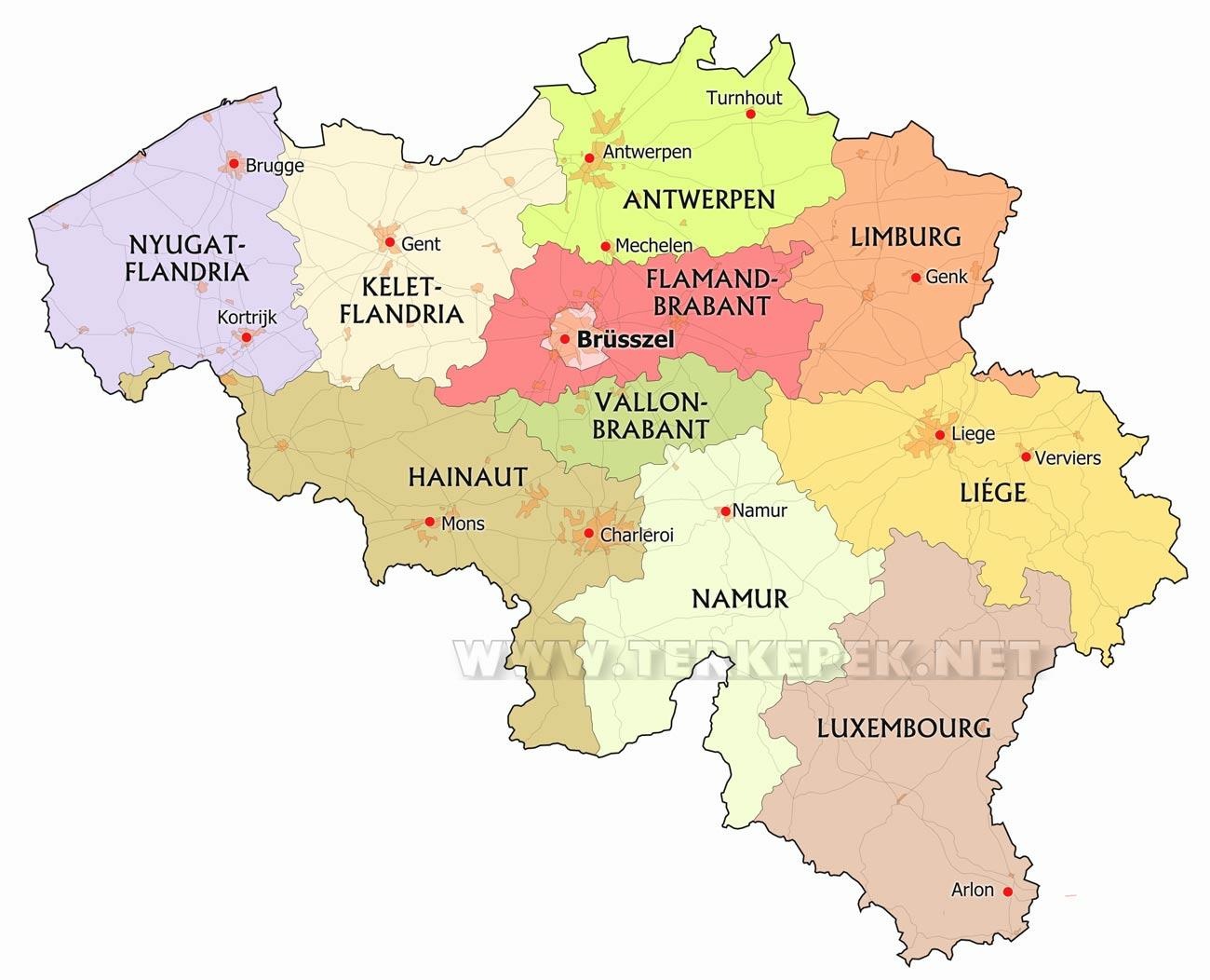 belgium térkép Belgium térképek belgium térkép